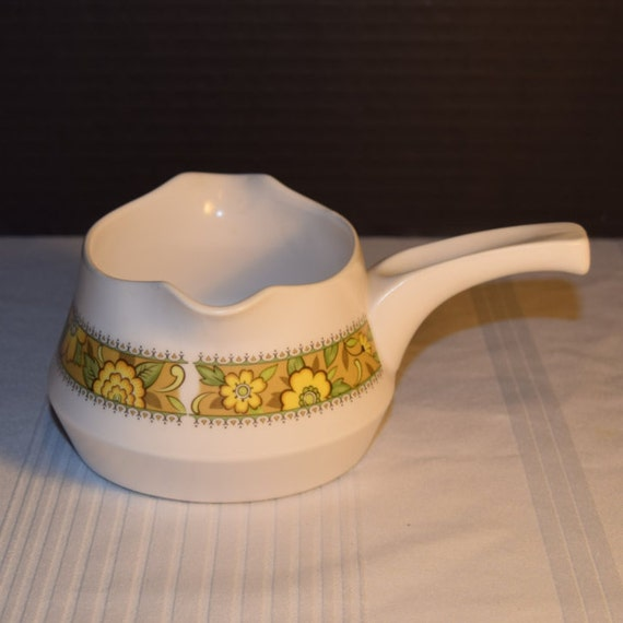 Noritake Progression Festival Gravy Boat Vintage Handled Gravy Boat Double Spout Hard to Find 1970s Noritake Replacement Discontinued China