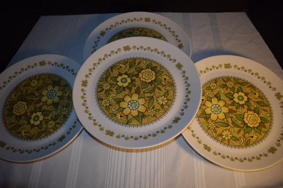 Noritake Progression Festival 4 Dinner Plates Vintage Set of 4 Plates Hard to Find Rare 1970s Noritake Replacement Discontinued China
