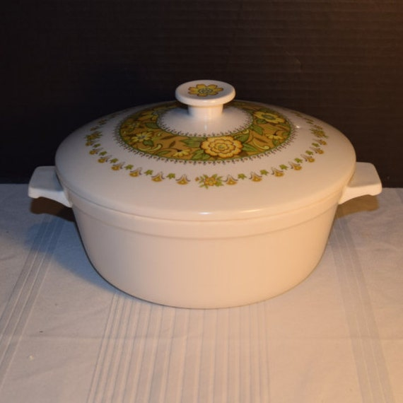 Noritake Progression Festival Casserole Vintage Covered Baking Dish Kitchen Bakeware Cookware 1970s Noritake Replacement Discontinued China