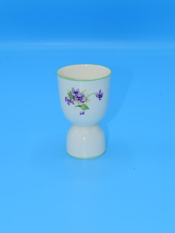 Fondeville Ambassador Ware Egg Coddler Vintage Purple Violets Boiled Egg Holder English China Gift for Her Breakfast Dish Afternoon Tea
