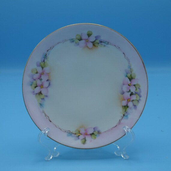 Buchanan Studio Thomas Bavaria Plate Vintage Bavarian Small Plate Dessert Appetizer Bread & Butter Hand Painted Plate Indianapolis