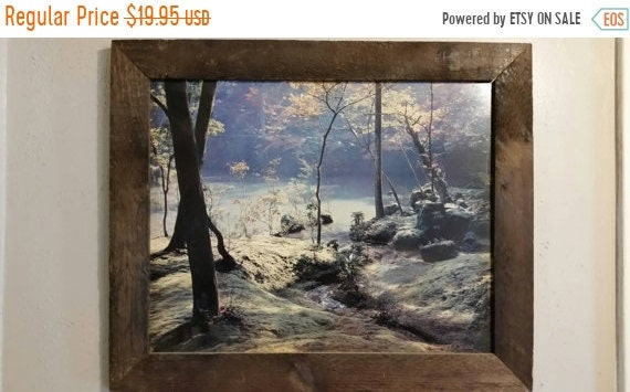 Sale Clearance Brook Print Rain Forest Wall Hanging Vintage Framed Wall Art Nature Forest River Photograph Art Print Office Picture Man Cave