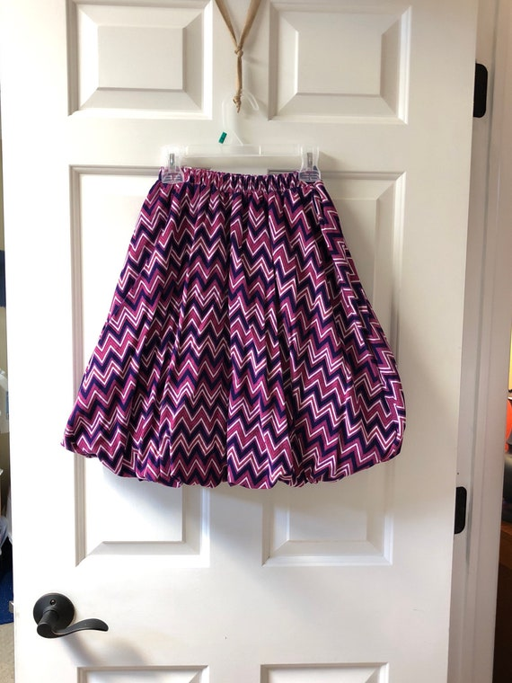 e4df8cc0ec Girls Purple Pink White Chevron Cool Corduroy Bubble Skirt | Etsy