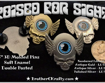 Poised For Sight - GD Inspired Third Eye Tour Wings Pin Assorted Finishes