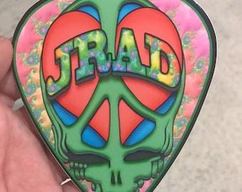 "Peace, Love & JRAD 4"" vinyl decal Grateful Dead and Company guitar pick tribute"