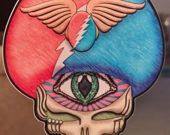 Field Trip Art Sticker Grateful Dead Inspired Decal