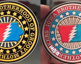 Iowa Brotherhood Sticker Groovy Grateful Dead and Company Inspired