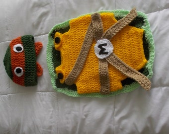 Crochet Ninja Turtle Baby Outfit
