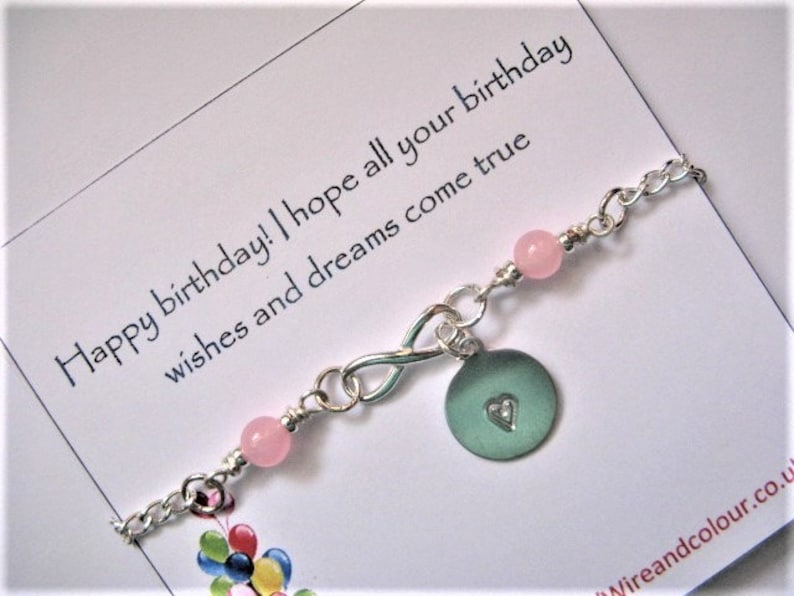 Sterling Silver Bracelet Gifts For Her Infinity Bracelet Customised Bracelet Anniversary Gift Personalised Initial Bracelet