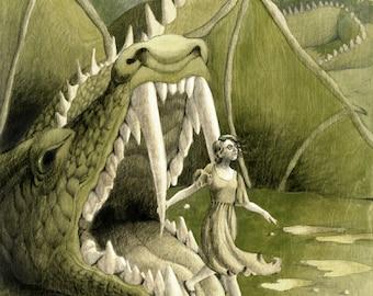 Sarah: Original Illustration on Wood, 18x24in