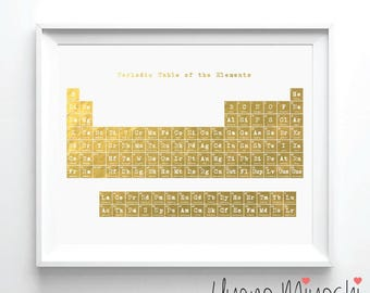 Periodic table gold etsy urtaz Image collections