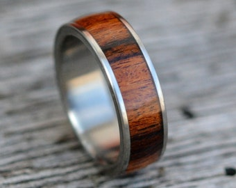 wooden ring  adjustable  Palisander  fingerring is made veneers  Intarsia ring is made of natural wood and silver plated bronze