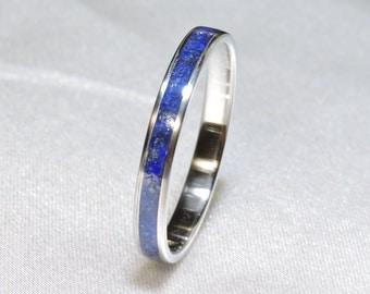 Titanium Ring, Lapis Lazuli inlay.