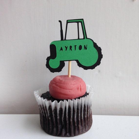 Tractor Birthday Anniversary Cake Topper