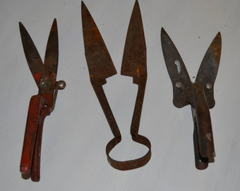 Delicieux Garden Tools Garden Shears Clippers Sheep Shears Grass Trimmers Vintage Garden  Tools Potting Shed GreenhouseTools Vintage Shed Tool Set Of 3