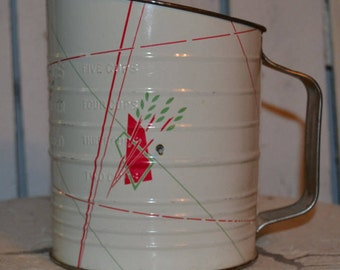 Bromwell's Measuring Sifter-Vintage flour sifter-Rustic farmhouse decor-Country kitchen-Retro kitchen decor-Measuring cup-Flour sifter