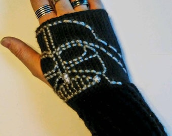 Star Wars Darth Vader Fingerless Gloves Wrist Warmers