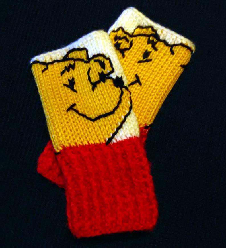 ffc9be0fa Winnie the Pooh Fingerless Gloves Wrist Warmers   Etsy