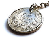 Bulgarian, Keychain, Coin keychain, 1940, Men 39 s accessory, Men 39 s gifts, Coin charm, Vintage keychain, Vintage charm, Upcycled coin, Coins