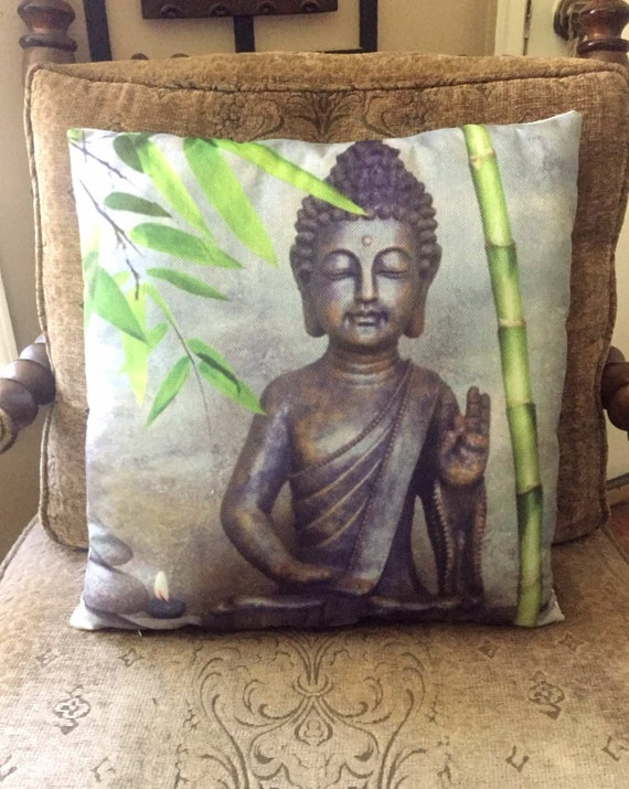 Buddha Decorative Pillow For Home Decor Office Decor Dorm Etsy Simple Buddha Decorative Pillows