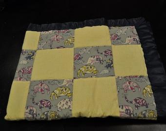 Elephant Baby Blanket - cotton