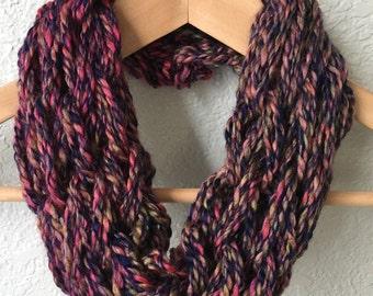 Arm Knit Scarf, Infinity Scarf, Fall/Winter Scarf