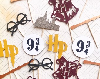 Harry Potter cupcake food picks for your party hogwarts butterbeer