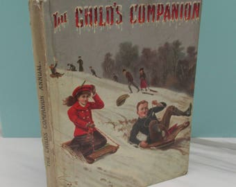 Antique Edwardian Children's Story Book - The Child's Companion Volume 79