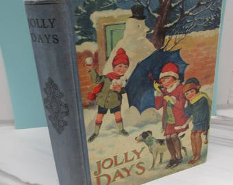 Delightful 1930s Children's Story Book - Jolly Days