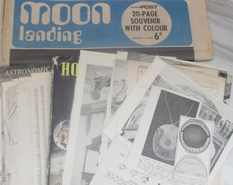30 PC Vintage Ephemera Pack - Science and Space Theme  - Vintage Paper,Scrapbooking, Collage, Mixed Media, Card Making