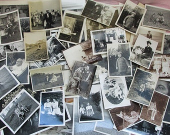 Lovely Collection of 68 Vintage British Photographs from the 1930s - 1970s - People and Places Lot