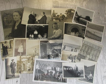 Lovely Collection of 50 Vintage British Photographs from the 1920s - 1960s - People and Places Lot #3