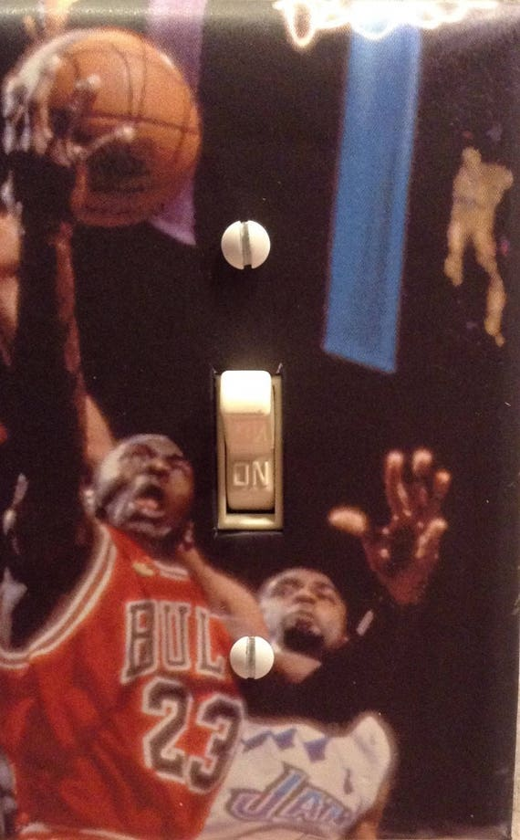 info for e4e99 38a93 Michael Jordan Basketball Legend Chicago Bulls Light Switch   Etsy