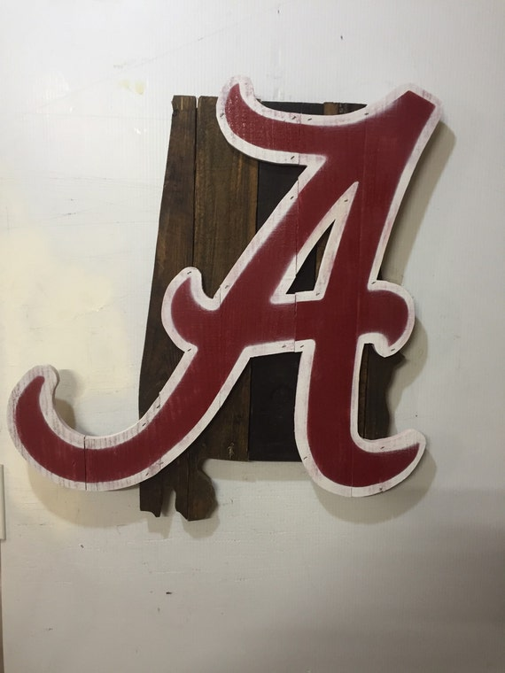 alabama crimson tide rustic wall art