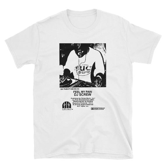 dj-screw-feel-my-pain-t-shirt-chopped-and-screwed-houston-memphis-southern-rap-underground-cult-90s-tape-three-six-mafia-hip-hop by etsy