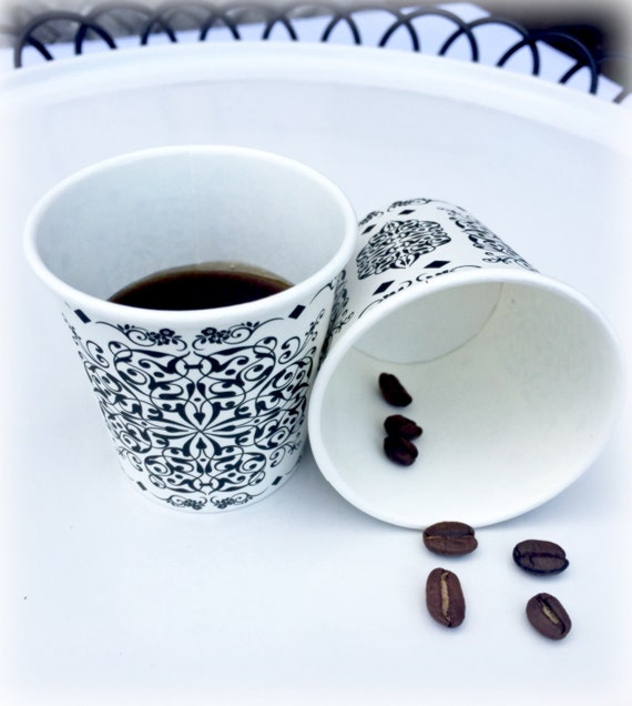 Elegant Espresso & Arabic coffee cups. These paper cups are