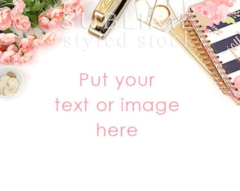 Styled Stock Photography / Desktop / Navy and Pink / Background / Social Media / Branding / Stock Photos / Photography / StockStyle-770