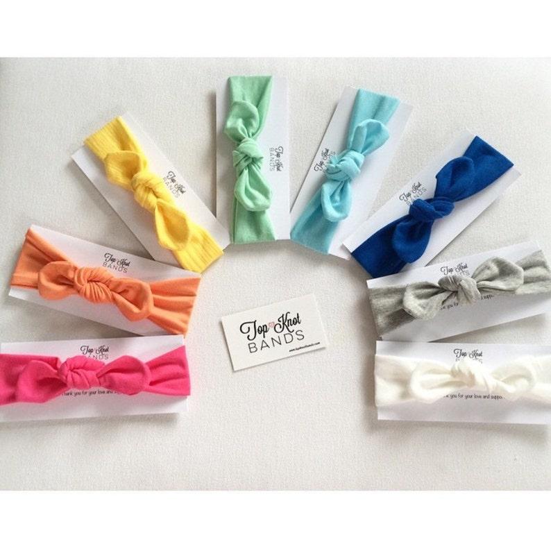 adults size too Baby headband Set colors Skinny topknots handmade