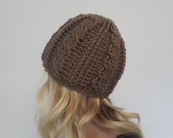 Made to Order - Cabled Beanie - Women's Crochet hat
