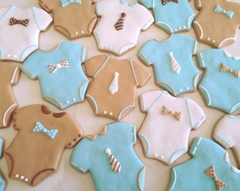 Baby Onesies Sugar Cookies (one dozen)