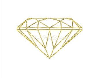 Diamond Stitch Embroidery Design Geomatric Diamond Machine Embroidery Instant Download
