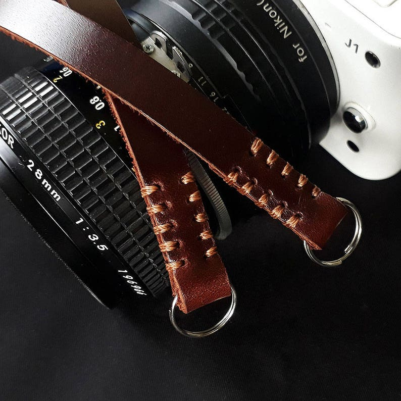 Camera strap leather vintage style