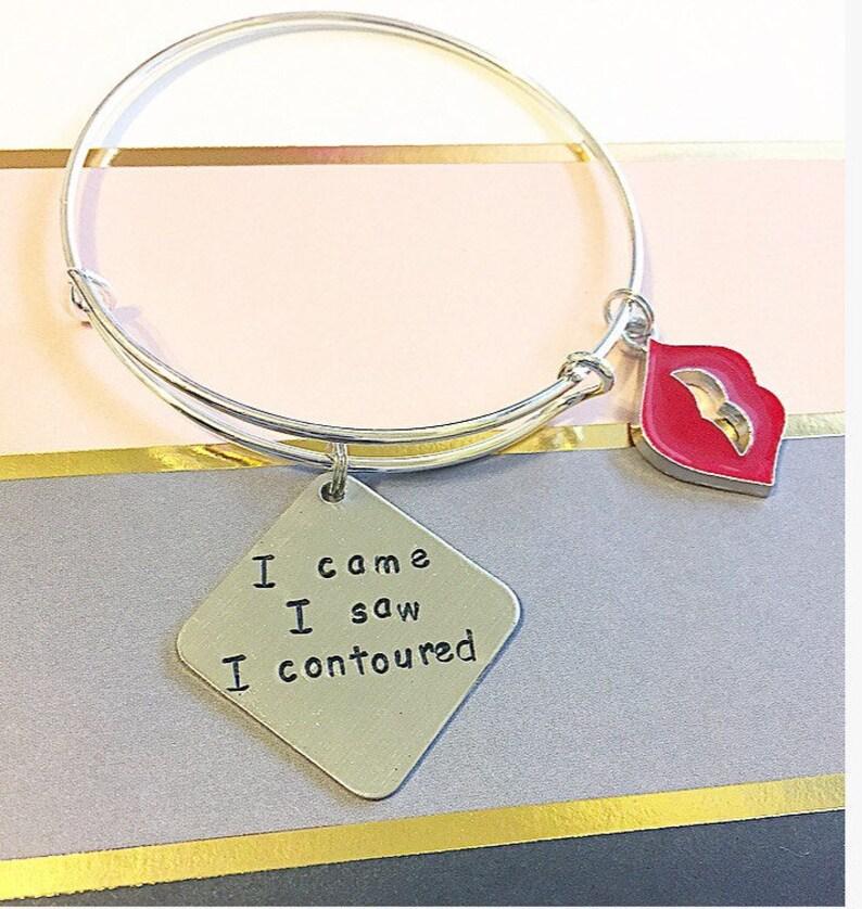 bbc822f5ae9c8 I came I saw I contoured bracelet makeup artist jewelry contour bracelet  lipstick jewelry makeup lover gift makeup jewelry funny makeup gift