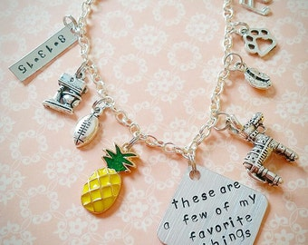 Personalized charm bracelet custom charm bracelet my favorite things gifts for her sister gift graduation gift gifts for teens teen gifts