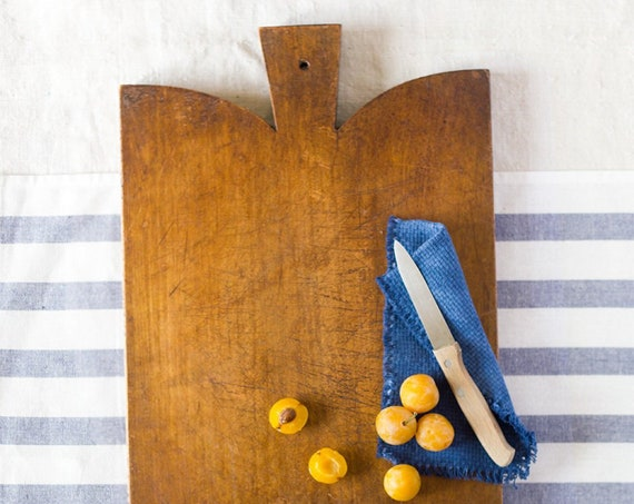 Vintage French Dark Cutting Board