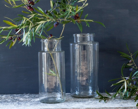 Antique French Glass Jars