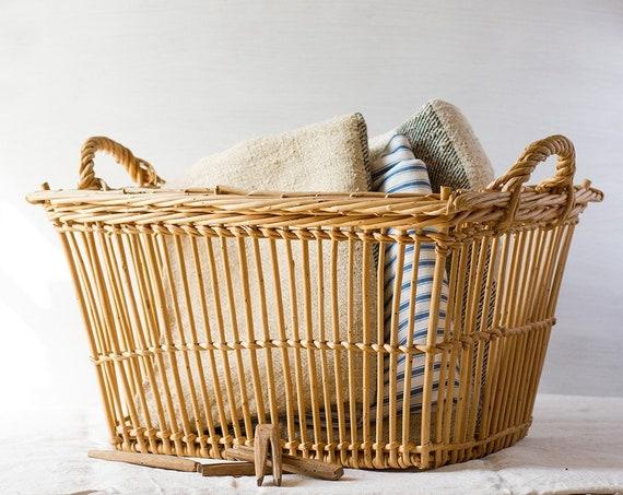 Vintage French Laundry Basket