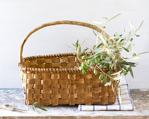 Vintage French Garden Basket