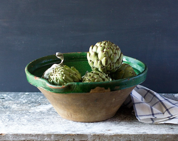 Antique French Provencal Bowl