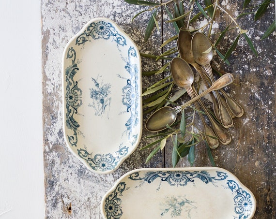Antique French Ironstone Small Platters